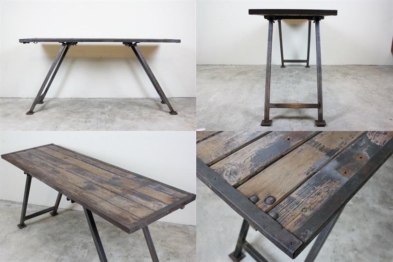 イギリス ガーデンテーブル ヴィンテージ家具 インダストリアル
