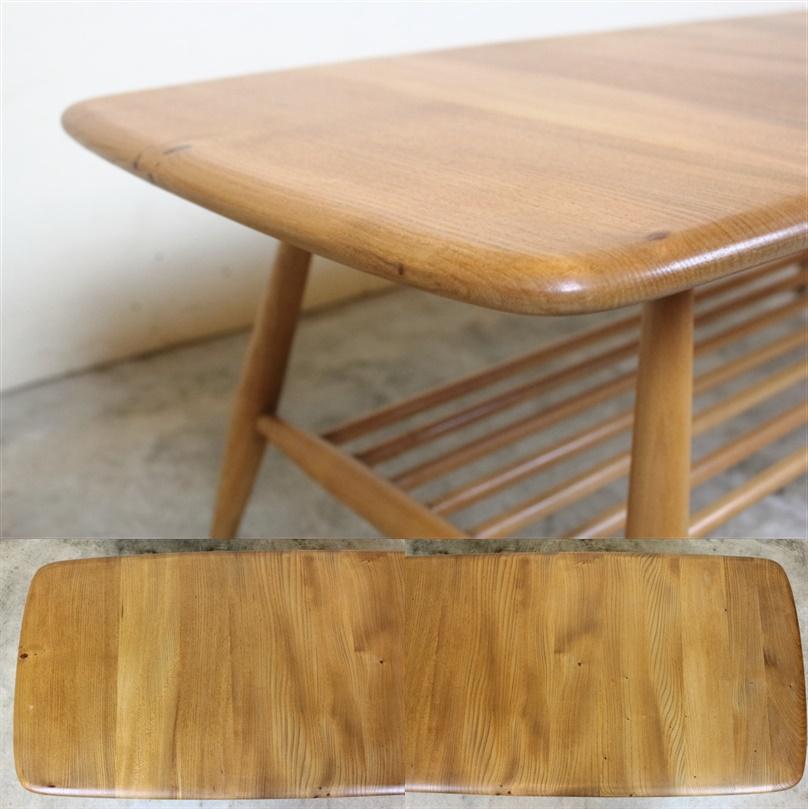 ercol アーコール ラック付コーヒーテーブル