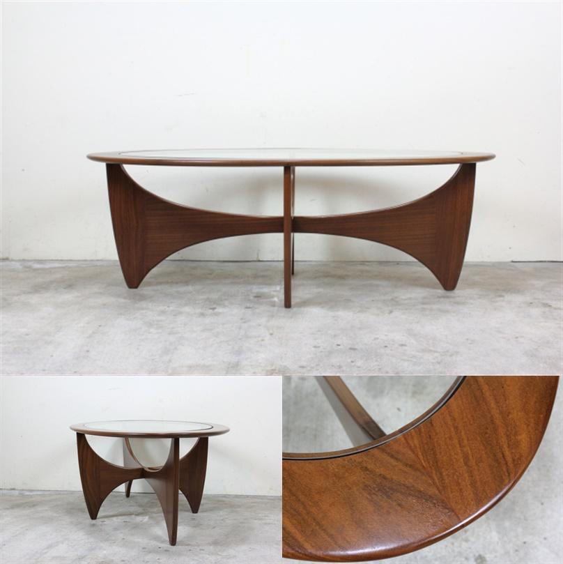 G-PLAN フレスコ ガラストップコーヒーテーブル